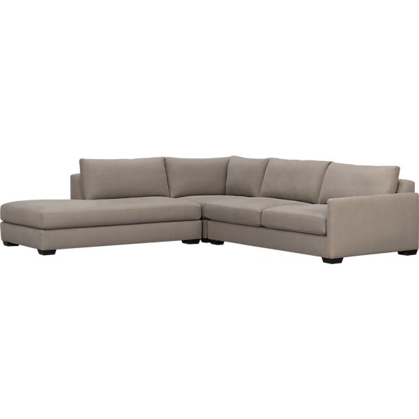 Domino 3-Piece Right Arm Sofa Sectional