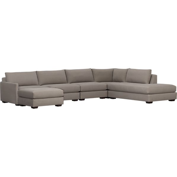 Domino 5-Piece Right Arm Sofa Sectional