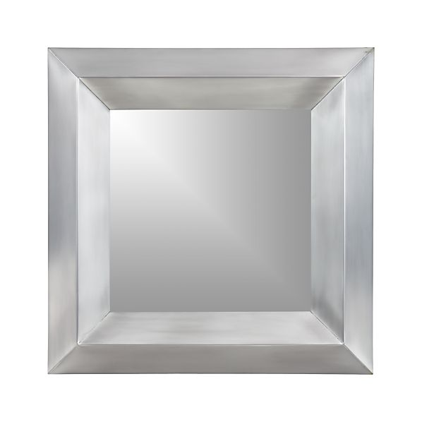 Dorado Nickel Square Wall Mirror