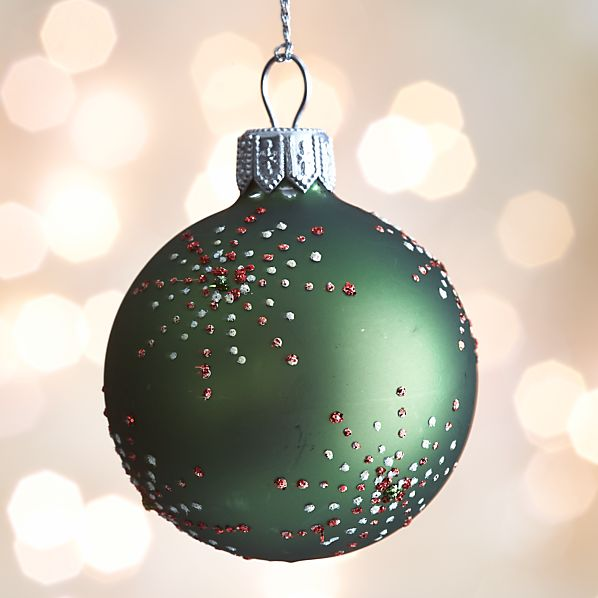 Green Dot Burst Ball Ornament