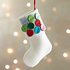 Dot Cuff Stocking Ornament.