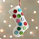 Dot Stocking Ornament.