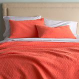 Dottie Coral Twin Coverlet