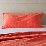 Dottie Coral King Sham