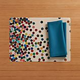 Dottie Easy Care Placemat and Fete Corsair Cotton Napkin