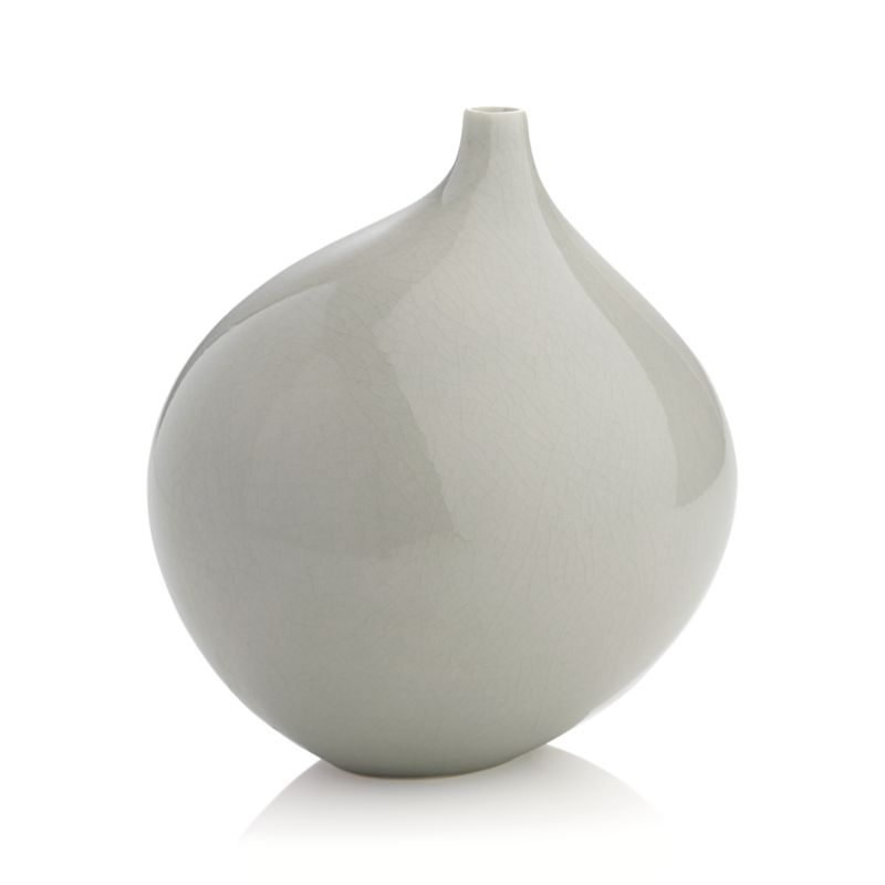Dove Grey Small Vase Crate And Barrel