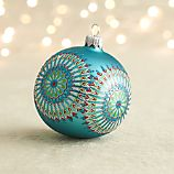 Dreamcatcher Blue Ball Ornament