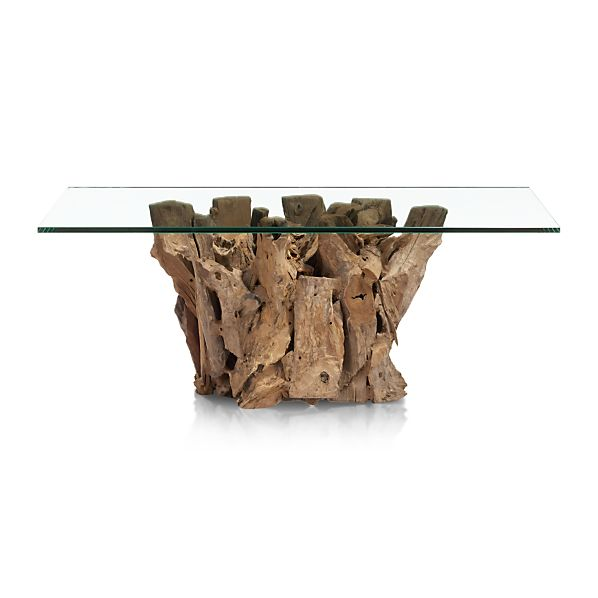 driftwood coffee table in coffee tables side tables crate and barrel. Black Bedroom Furniture Sets. Home Design Ideas