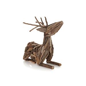 Lying Driftwood Reindeer