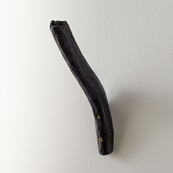 Black Driftwood Wall Hook