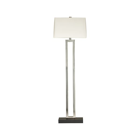 Duncan Antiqued Silver Floor Lamp Crate And Barrel
