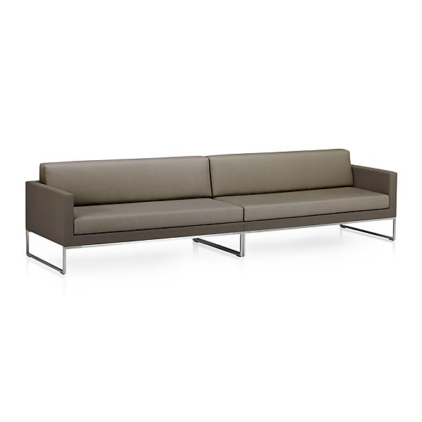 Dune 2 Piece Sectional Sofa with Sunbrella Taupe