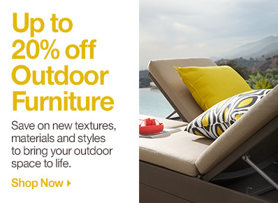 Up to 20% off Outdoor Furniture