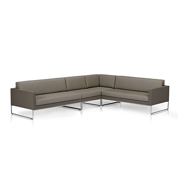 Dune 4-Piece Sectional Sofa with Sunbrella® Taupe Cushions