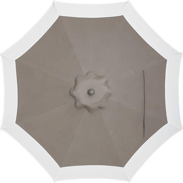 9' Round Sunbrella ® Taupe Banded Umbrella Cover