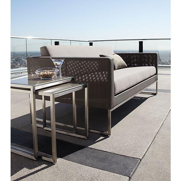 Dune Sofa with Sunbrella ® Taupe Cushion