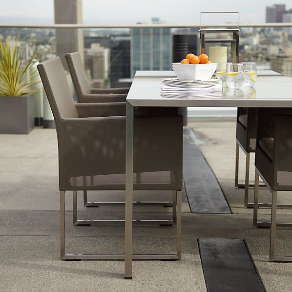 Dune Dining Chair with Sunbrella ® Taupe Cushion