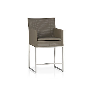 "Dune 24"" Counter Stool with Sunbrella® Taupe Cushion"
