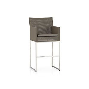 "Dune 30"" Bar Stool with Sunbrella® Taupe Cushion"