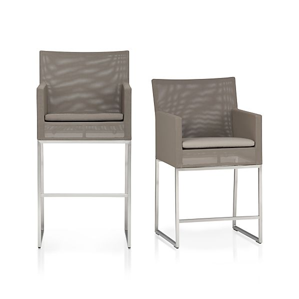 Dune Barstools with Sunbrella® Taupe Cushion