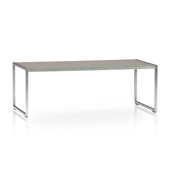 Dune Coffee Table with Painted Glass