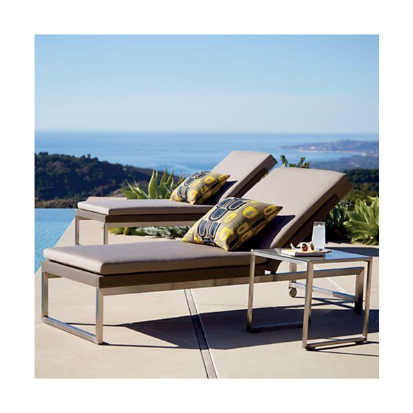 Dune Chaise Lounge Sunbrella ® Taupe Cushion