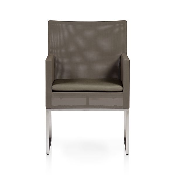 Dune Dining Chair With Sunbrella 174 Taupe Cushion Crate