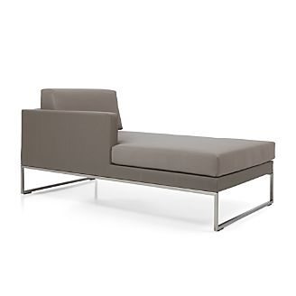 Dune Left Arm Chaise with Cushions