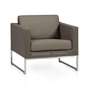 Dune Lounge Chair with Sunbrella Taupe Cushion