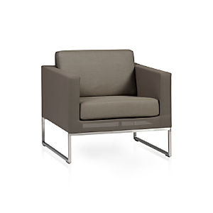 Dune Lounge Chair with Sunbrella® Taupe Cushion
