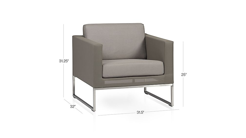 Dune Lounge Chair with Cushion Dimensions