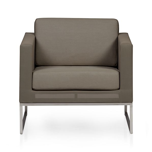 Dune Lounge Chair with Sunbrella ® Taupe Cushion