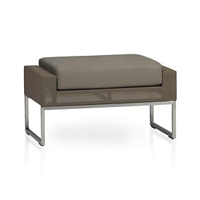 Dune Ottoman with Sunbrella® Taupe Cushion