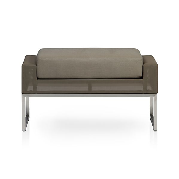 Dune Ottoman with Sunbrella ® Taupe Cushion