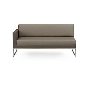 Dune Sectional Left Arm Loveseat with Sunbrella ® Taupe Cushions
