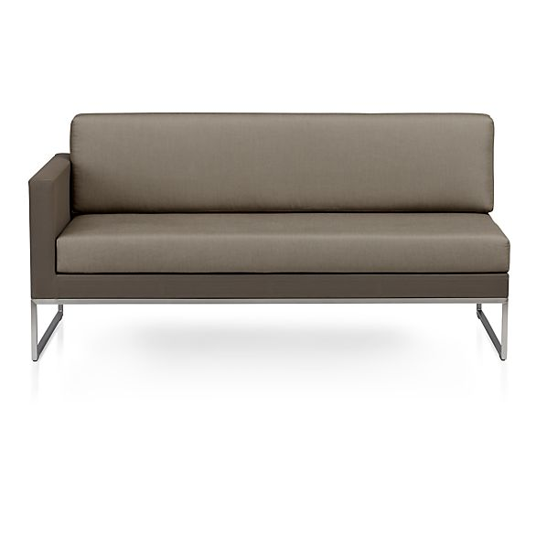 Dune Sectional Left Arm Loveseat with Cushions