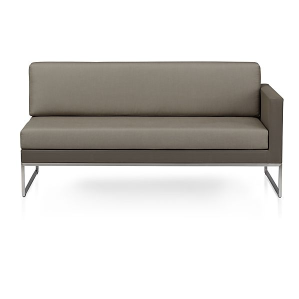 Dune Sectional Right Arm Loveseat with Sunbrella ® Taupe Cushions