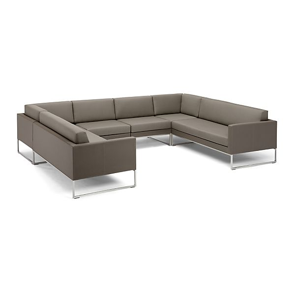 Dune 6 Piece Sectional Sofa with Cushions Taupe