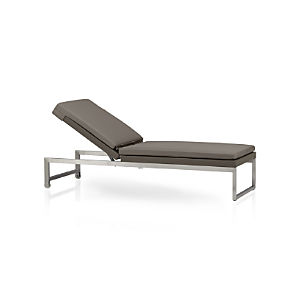 Dune Chaise Lounge with Sunbrella® Taupe Cushion