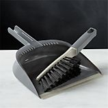 Casabella Grey Dustpan and Brush Set