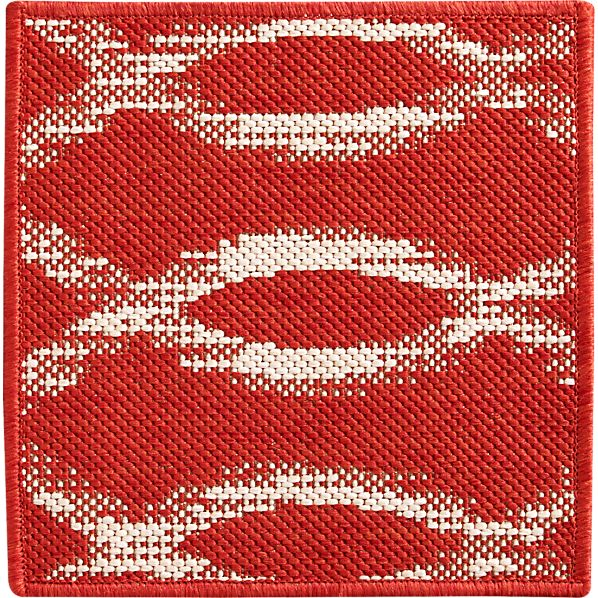 "Dyna Coral Indoor-Outdoor 12"" sq. Rug Swatch"