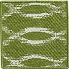 Dyna Green Indoor-Outdoor Rug Swatch.