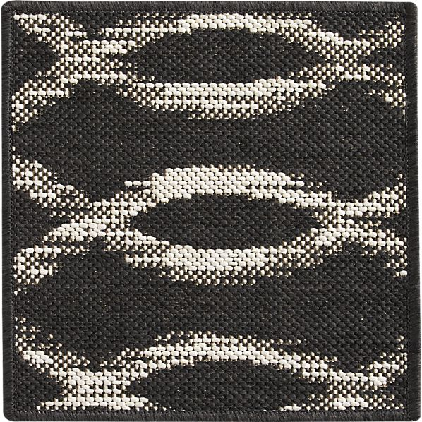 "Dyna Grey Indoor-Outdoor 12"" sq. Rug Swatch"