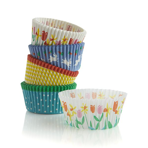 Set of 100 Easter Cupcake Papers