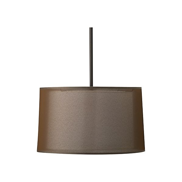 Eclipse Antiqued Bronze Pendant Lamp