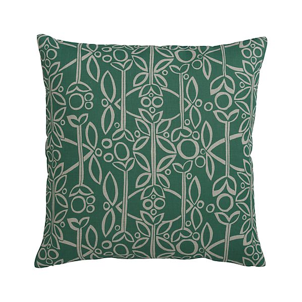 "Edda 20"" Pillow with Feather-Down Insert"