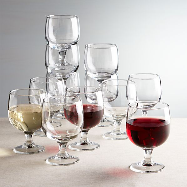 Set of 12 Eddy 11 oz. Everyday  Stacking Glasses