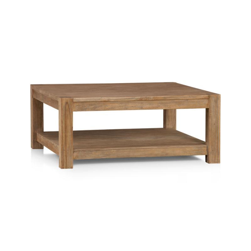 Edgewood Square Coffee Table In Coffee Tables Side Tables Crate And Barrel