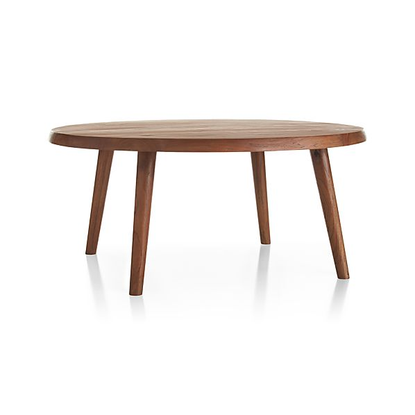 Edgewood Round Coffee Table Crate And Barrel