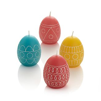 Set of 4 Easter Egg Candles